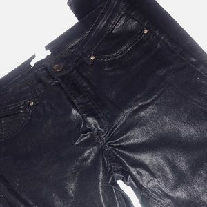 "Leather ""wet look""pants"